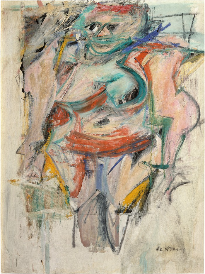 Woman Standing-Pink, 1954-1955