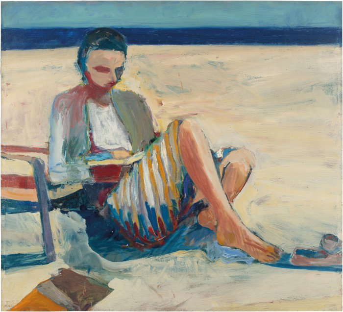 Girl On The Beach  Anderson Collection At Stanford University-9157