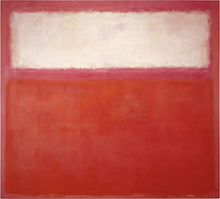 Pink and White over Red, 1957