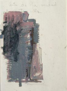Mujer Pegada Study [Gustavo No. 12], 1985