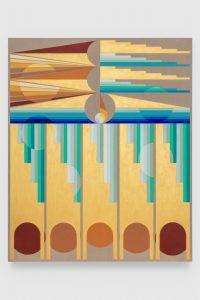 Ore-Giron, Eamon. Infinite Regress CXIX, 2020. Flashe on linen. 102 x 84 inche